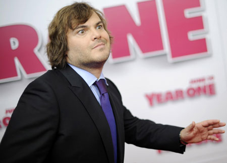 Jack Black and other celebs arrive for premiere of
