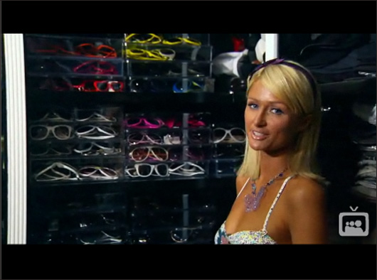 Rare glimpse into Paris Hilton's closets