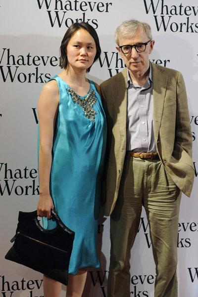 Woody Allen and Evan Rachel Wood attend film