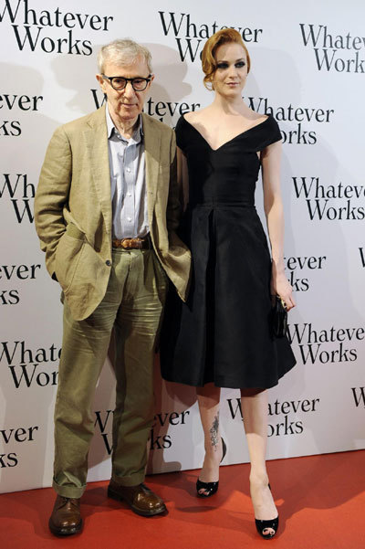 Woody Allen and Evan Rachel Wood attend film