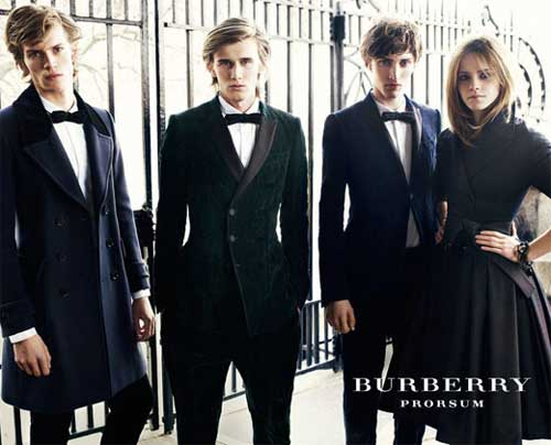 Emma Watson modeled for Burberry campaign