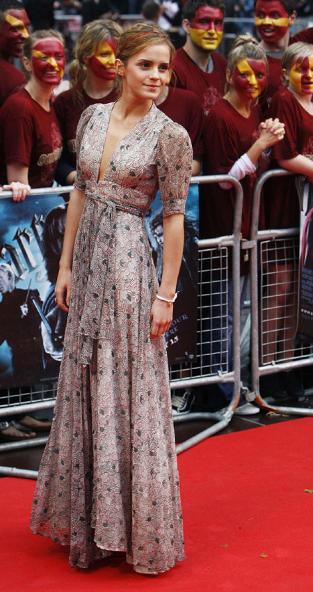Emma Watson's funny screen kiss. British actress Emma Watson arrives for the