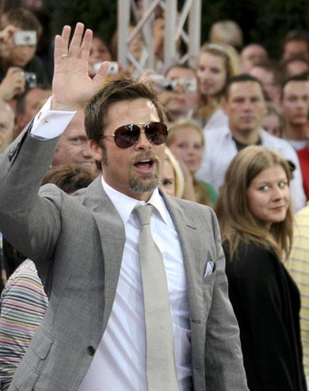 Cast member Brad Pitt arrives at premier of film