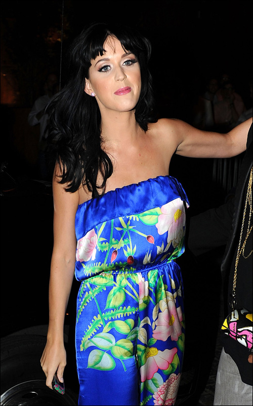 Singers Katy Perry and Rihanna attend a post concert party in New York City