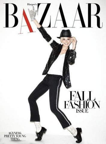 Supermodel in jackson style lands on 'Harper's Bazaar'