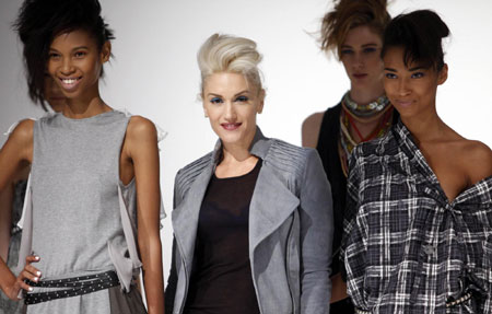 Designer and musician Gwen Stefani at New York Fashion Week