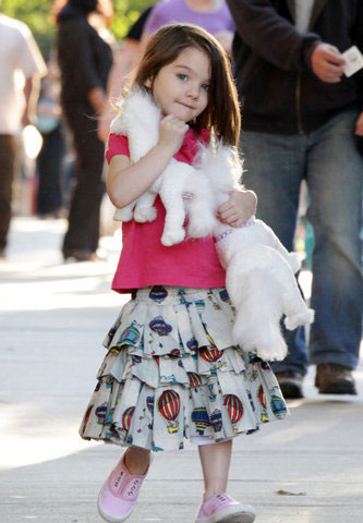 Katie Holmes spending time with Suri Cruise in Boston
