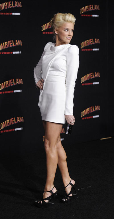 Emma Stone and Amber Heard attend premiere of