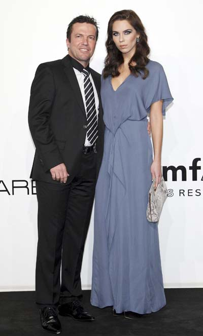 The amfAR event during the women's fashion week in Milan