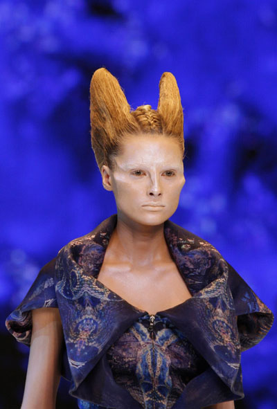 McQueen Spring/Summer 2010 women s collection at Paris Fashion Week