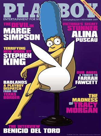 Marge Simpson makes cover of Playboy