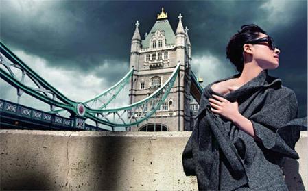 Actress Xu Qing's photoshoots in Paris, London