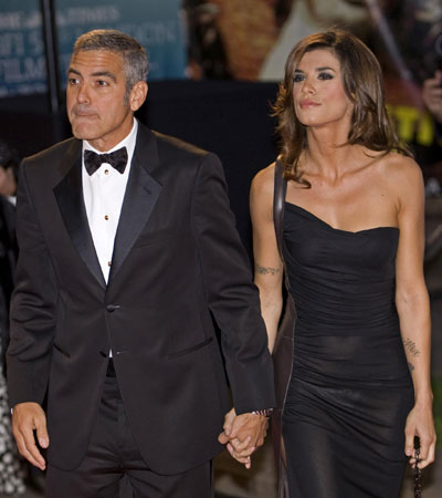Clooney,Cindy Crawford at world premiere of film