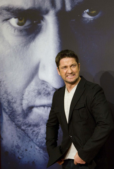 Gerard Butler attends at his new movie