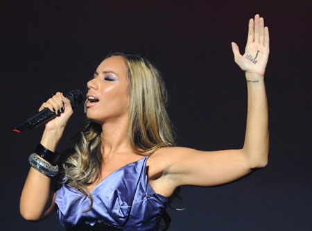 Leona Lewis performs at The Hackney Empire in London