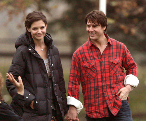 Tom Cruise, Katie Holmes took a walk in Park