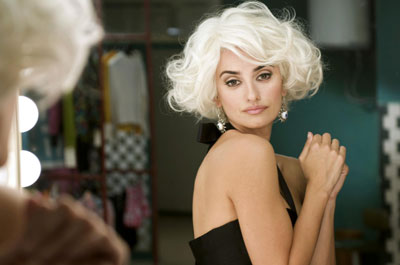 Penelope Cruz on the set of