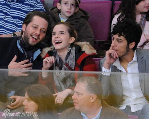 Emma Watson's hockey date