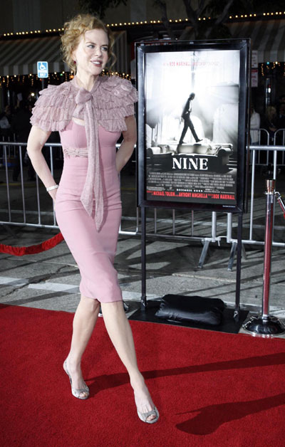 Nicole Kidman Nine Premiere. Nicole Kidman,Cruz and Fergie