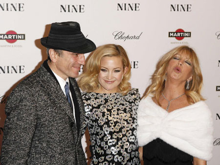 Nicole Kidman,Cruz and Hudson arrive at the premiere of the film
