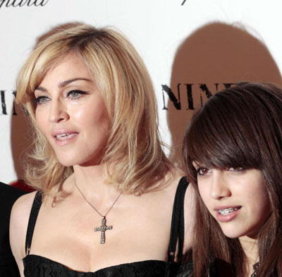 Madonna and her daughter arrive at premiere of the film