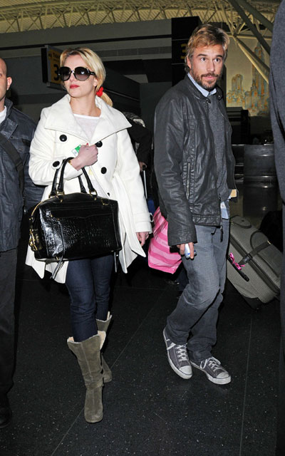 Britney Spears and boyfriend at airport