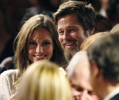 Brad Pitt and Angelina Jolie attend UNICEF Ball