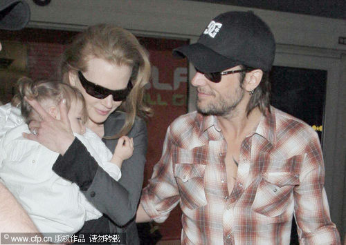 Nicole Kidman with her family