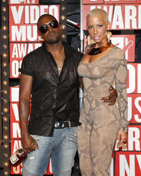 amber rose kanye west girlfriend. Kanye West and girlfriend