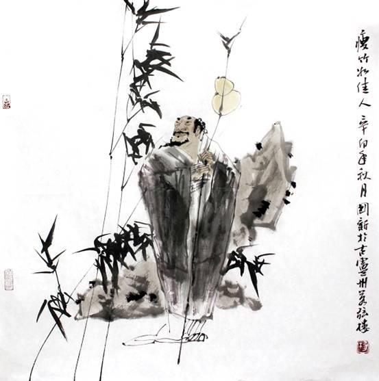 接受了中国日报书画艺术的专访.-专访 杨国新 艺术不能偏离艺术本身