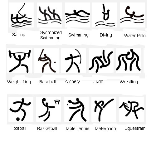 Beijing Olympic Games organization committee released a set of symbols ...