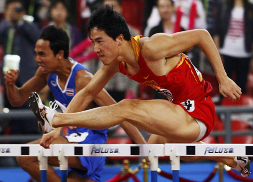 Liu Xiang wins men's 110m hurdles heat