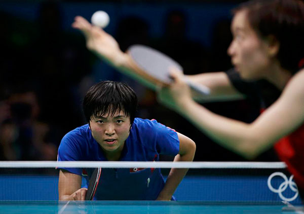 Flying start for Chinese table tennis in Rio 2016, top Japanese girl ...