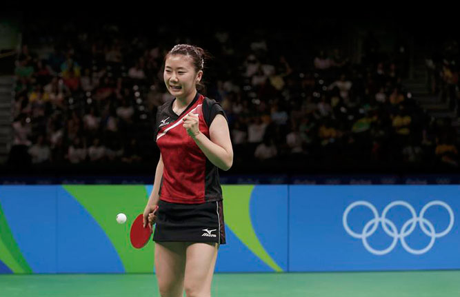 Fukuhara upsets 2nd seed Feng to make her first semis in Olympic ...