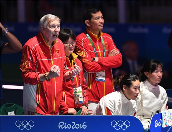 Women's epee team settles for silver, markswoman Du eyes retirement