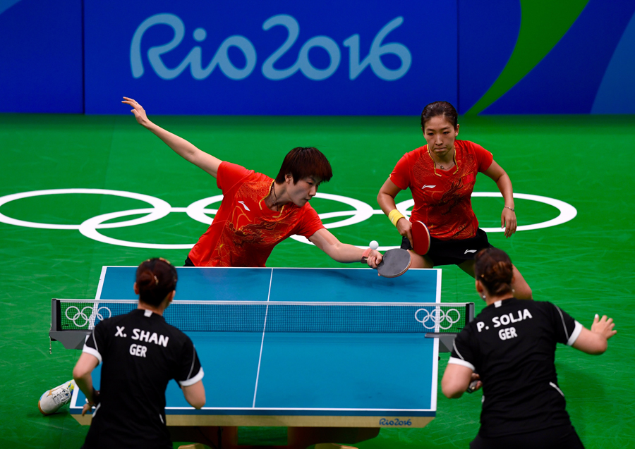 China's women's table tennis team sweeps third back-to ...