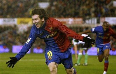 Lionel Messi vs Racing Santander