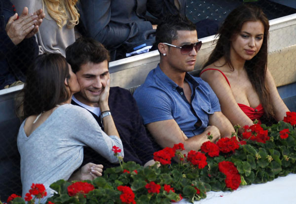 Ronaldo  Casillas Couples Spotted At Madrid Open Final