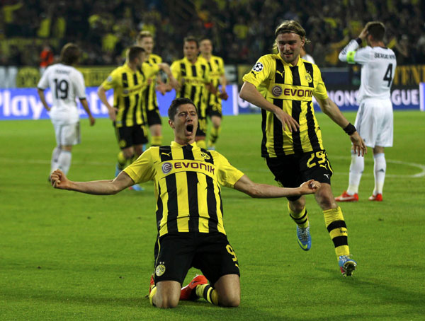 Dortmund crushes Real 4-1 in Champions League semis |<!-- ab