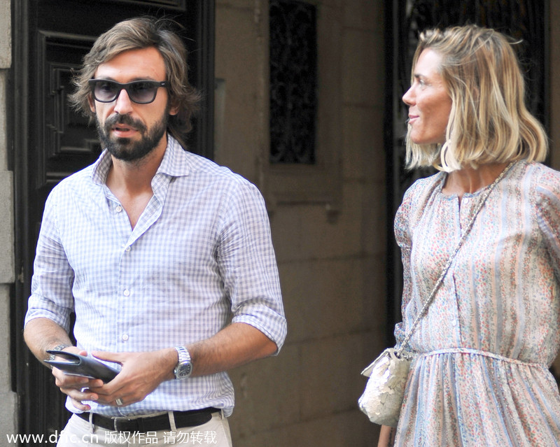 Andrea Pirlo with beautiful, Wife Deborah Roversi