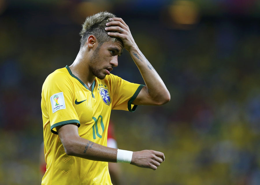 Brazils Neymar Reacts During Their 2014 World Cup Group A Soccer Match Against Mexico At The Castelao Arena In Fortaleza June 17 Photo Agencies