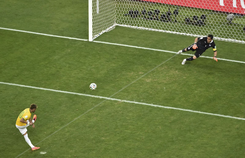 how to take a shot in soccer