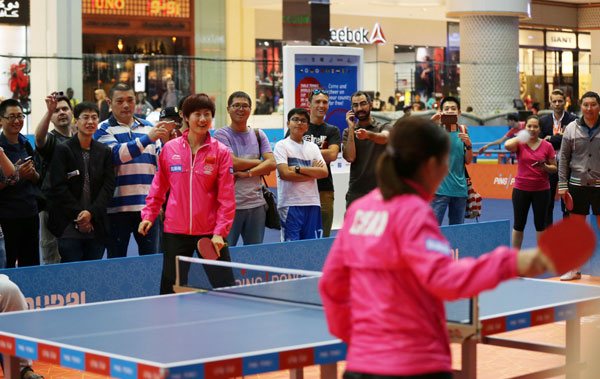 Dubai table tennis images for Table 9 dubai