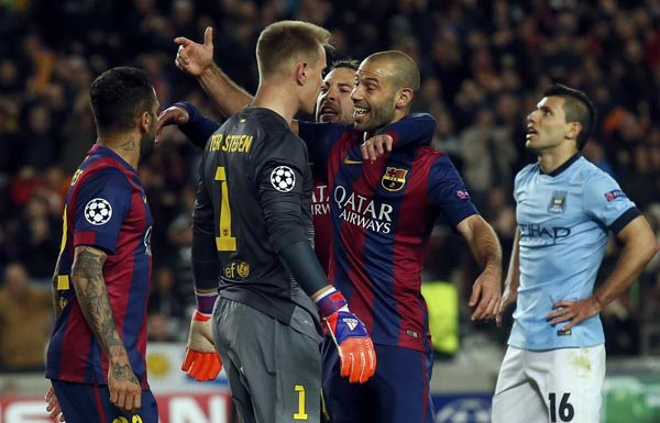 49575d9beea English giants sunk as Barca, Monaco advance to quarters[1 ...