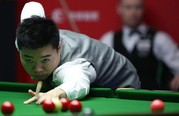 Ding Junhui plays Mark Davies at snookers worlds