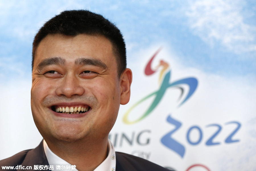 yao ming attends winter olympic bid meeting to support china 1