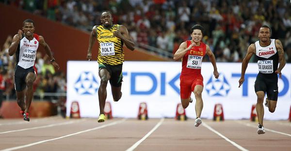 Su Bingtian runs 100m in 9.99 seconds