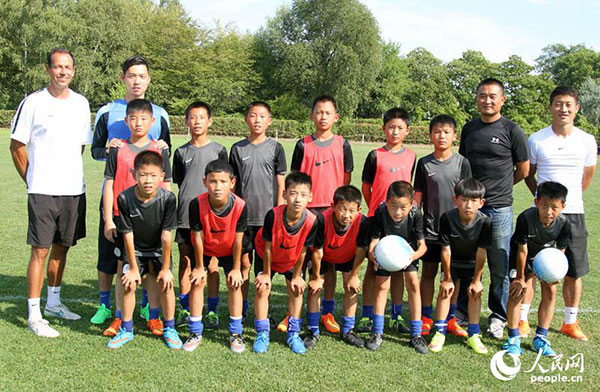 German training style vs  youth football players from China[1