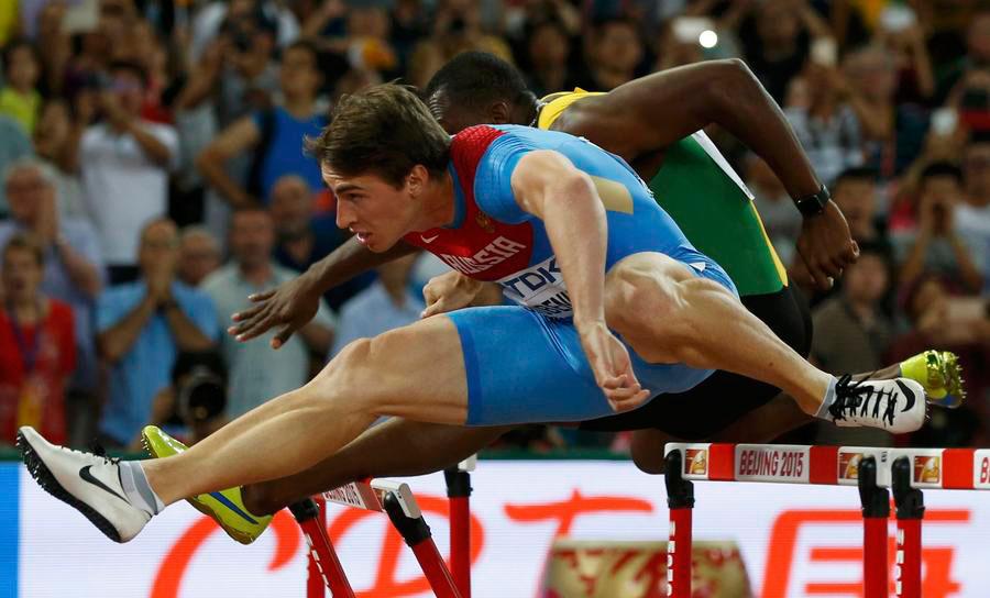 Shubenkov of Russia wins 110m hurdles at worlds 1 - Chinadaily.com.cn 5fe93b128620f