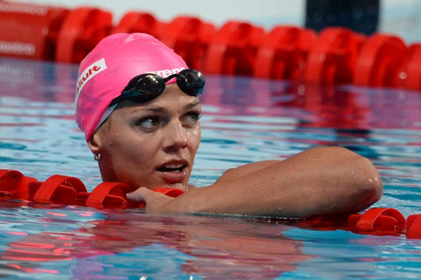 Russian swimmer suspended for suspected do